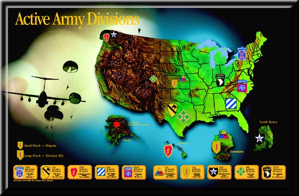 Pre-war Active Duty US Army Divisions